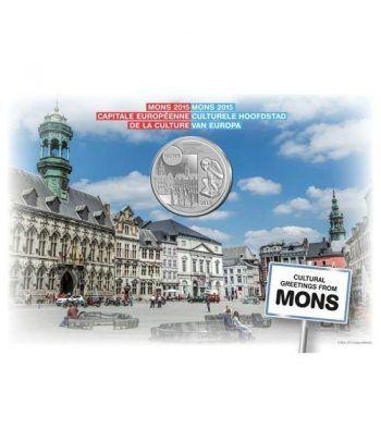 moneda Belgica 5 Euros 2015 Mons Capital Cultural. Niquel  - 1