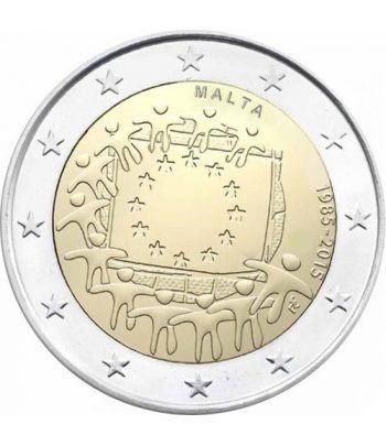 moneda Malta 2 euros 2015. 30 Años bandera de Europa.  - 2