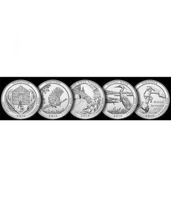 E.E.U.U. 1/4$ 2015 Parques Nacionales (5 monedas) ceca P.  - 2