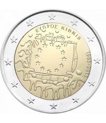 moneda Chipre 2 euros 2015. 30 Años bandera de Europa.  - 2
