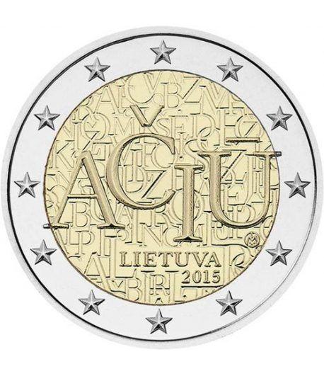 moneda conmemorativa 2 euros Lituania 2015 Idioma.  - 2