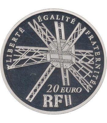 Francia 20 € 2009 Gustave Eiffel 1832-1923. Piedfort.  - 1