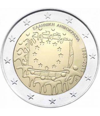 moneda Grecia 2 euros 2015. 30 Años bandera de Europa.  - 2