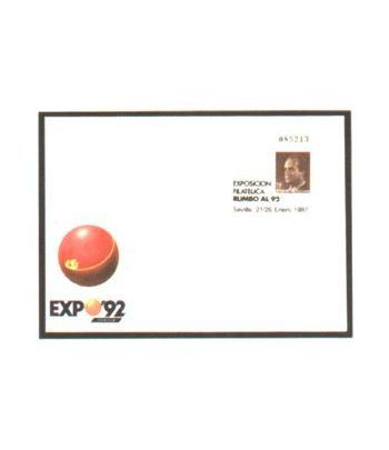 Sobre Entero Postal 006 Rumbo al '92 (1987)  - 2