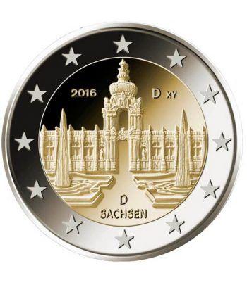 moneda conmemorativa 2 euros Alemania 2016 (5) Sachsen  - 2