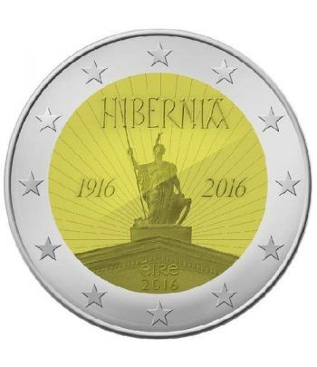 moneda conmemorativa 2 euros Irlanda 2016 Hibernia.  - 2