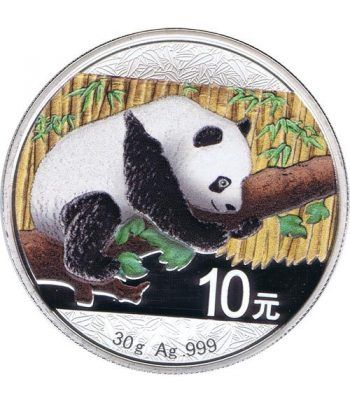 Moneda onza de plata color 10y. China Oso Panda 2016  - 4