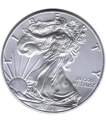 Moneda onza de plata 1$ Estados Unidos Liberty 2016.  - 1