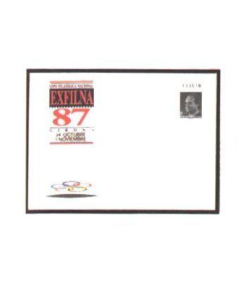 Sobre Entero Postal 010 Exfilna 1987  - 2