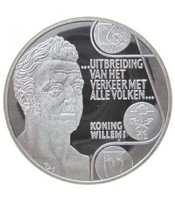 Moneda de plata 25 Ecu Holanda 1992 Rey Guillermo I. Proof.  - 4