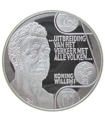 Moneda de plata 25 Ecu Holanda 1992 Rey Guillermo I. Proof.  - 1