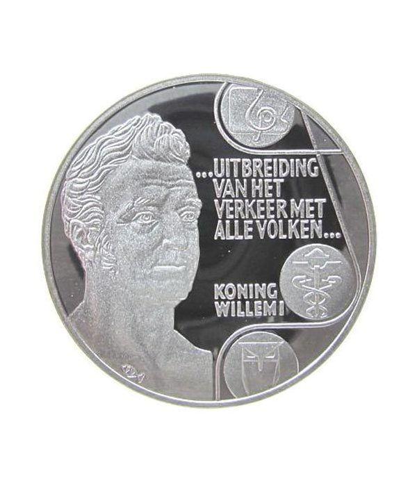 Moneda de plata 25 Ecu Holanda 1992 Rey Guillermo I. Proof.  - 1