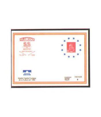 Sobre Entero Postal 011 Filamoder 1988  - 2