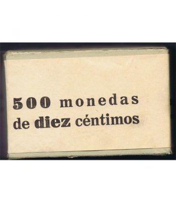 Caja con 500 monedas de DIEZ 10 centimos 1959  - 2