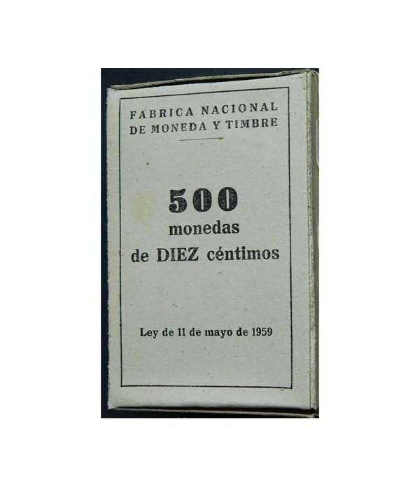 Caja con 500 monedas de DIEZ 10 centimos 1959  - 1