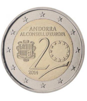 moneda conmemorativa 2 euros Andorra 2014. BU.  - 1