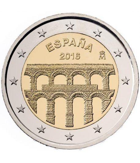 moneda conmemorativa 2 euros España 2016 Segovia.  - 2