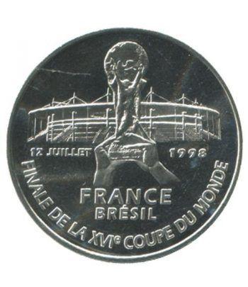 Moneda de plata 5 Francos Francia 1998 Final Mundial 98.  - 1