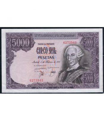 (1976/02/06) Madrid. 5000 Pesetas. EBC+. Sin Serie. 6273943  - 1