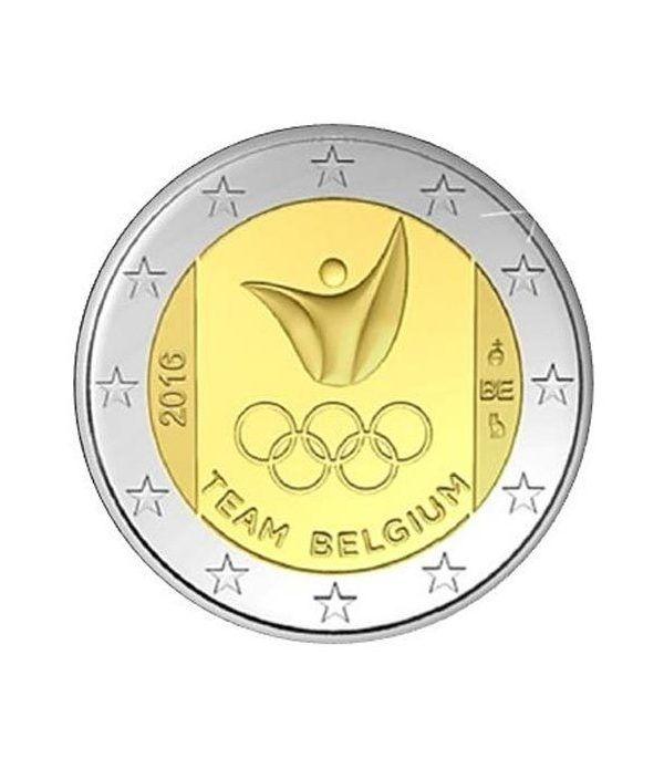 moneda conmemorativa 2 euros Belgica 2016 Rio.  - 2