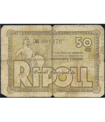 (1937) 50 Centims Ajuntament de Ripoll. MBC  - 1