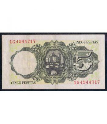 (1951/08/16) Madrid. 5 Pesetas. EBC.  - 2