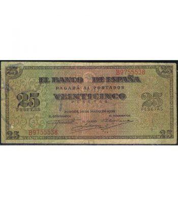 (1938/05/20) Burgos. 25 Pesetas. MBC. Serie B9755538  - 1