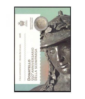 moneda conmemorativa 2 euros San Marino 2016 Donatello.  - 2
