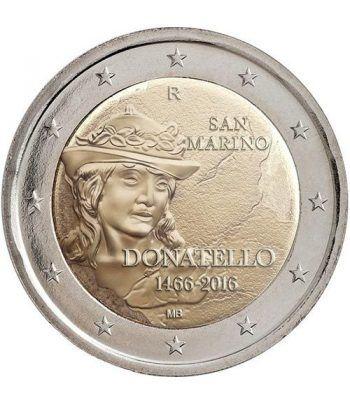 moneda conmemorativa 2 euros San Marino 2016 Donatello.  - 1