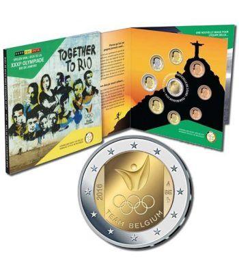 Cartera oficial euroset Belgica 2016 Rio de Janeiro.  - 1