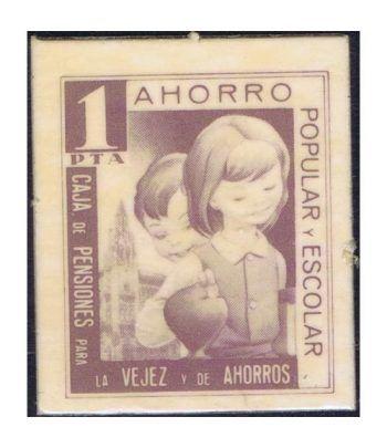 1 peseta Ahorro Popular y Escolar Caja de Pensiones La Caixa  - 1