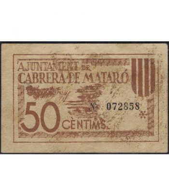 (1937) 50 Centims Ajuntament de Cabrera de Mataró.  - 1