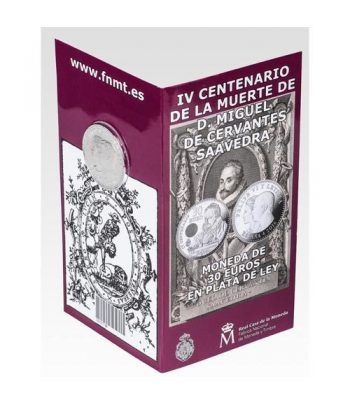 Cartera oficial euroset 30 Euros 2016 IV Cº Muerte Cervantes  - 1