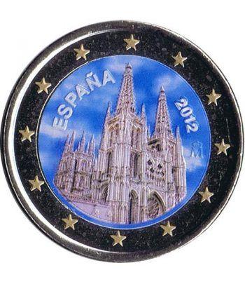 moneda conmemorativa 2 euros España 2012 Burgos. Color B  - 2