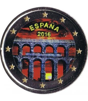 moneda conmemorativa 2 euros España 2016 Segovia. Color.  - 2