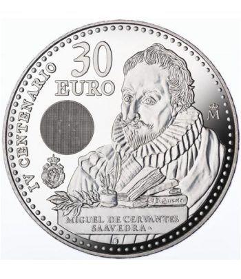 Moneda conmemorativa 30 Euros 2016 IV Cº Muerte Cervantes  - 1