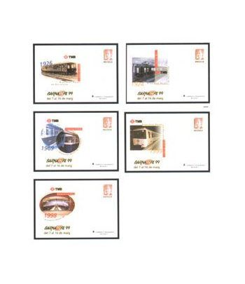 Sobre Entero Postal 053 a,b,c,d,e Barnafil 1999  - 2