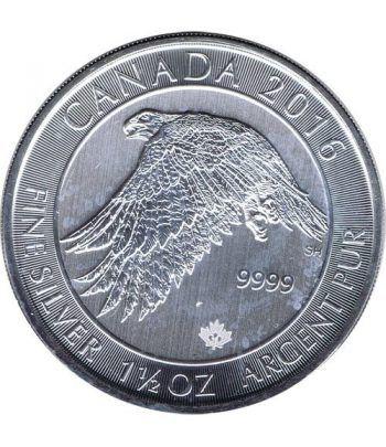 Moneda de plata 8$ Canada Halcon 2016. 1 1/2 onzas.  - 1