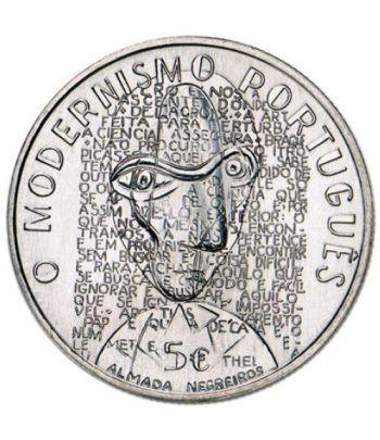 Portugal 5 Euros 2016 Modernismo Almada Negreiros. Niquel  - 1
