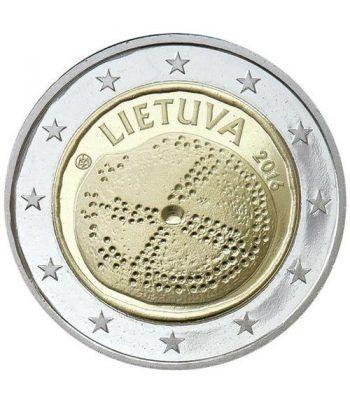 moneda conmemorativa 2 euros Lituania 2016 Cultura Báltica.  - 2