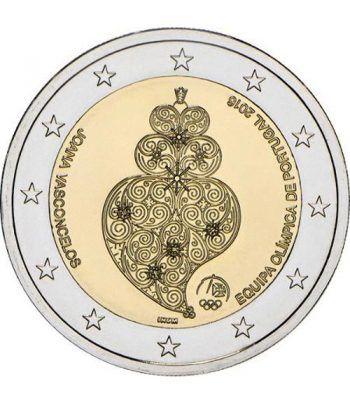 moneda conmemorativa 2 euros Portugal 2016 Equipo Olímpico.  - 2
