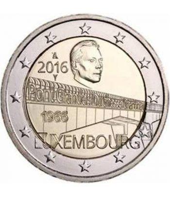 moneda conmemorativa 2 euros Luxemburgo 2016 Puente.  - 2
