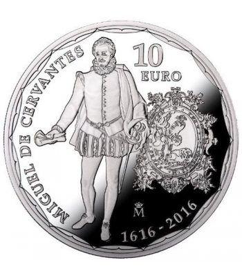 Moneda 2016 IV Centenario muerte Cervantes. 10 euros. Plata.  - 1