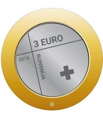 moneda Eslovenia 3 Euros 2016.  - 1