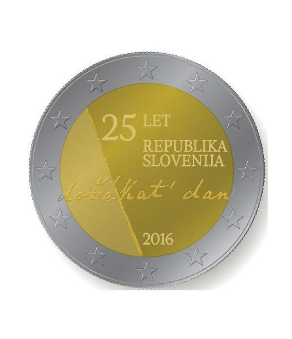 moneda conmemorativa 2 euros Eslovenia 2016.  - 2