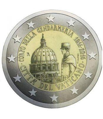 moneda conmemorativa 2 euros Vaticano 2016 Gendarmería.  - 1