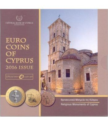 Cartera oficial euroset Chipre 2016.  - 1