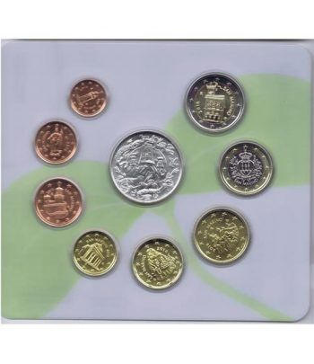 Cartera oficial euroset San Marino 2016 + 5€ (plata).  - 2