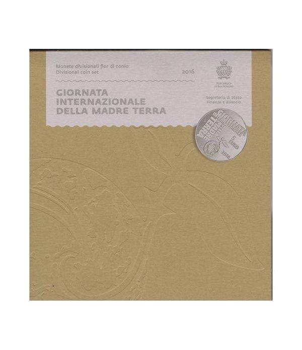 Cartera oficial euroset San Marino 2016 + 5€ (plata).  - 1
