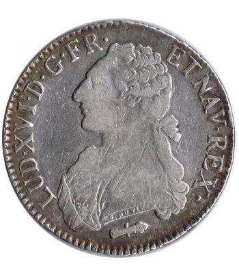 Moneda de plata Francia Ecu Luis XVI 1787 Q. Perpignan.  - 1